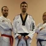 Nouvelle ceinture noire de taekwondo